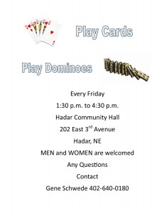 Friday Cards Dominoes 04-11-2016